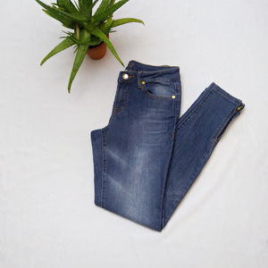 CACHE || Skinny Medium Rise Ankle Zip Jeans